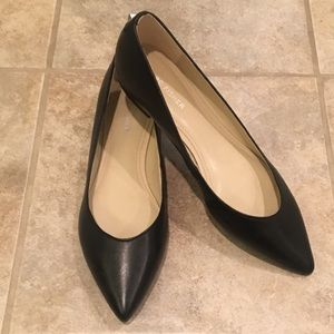 MARC FISHER Black Leather Flats 8